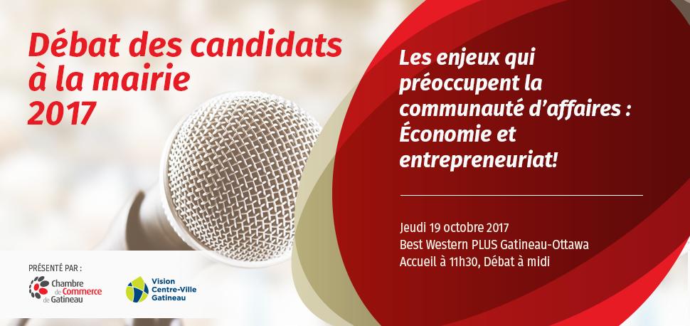 D bat des candidats la mairie de gatineau 2017 chambre for Chambre de commerce gatineau